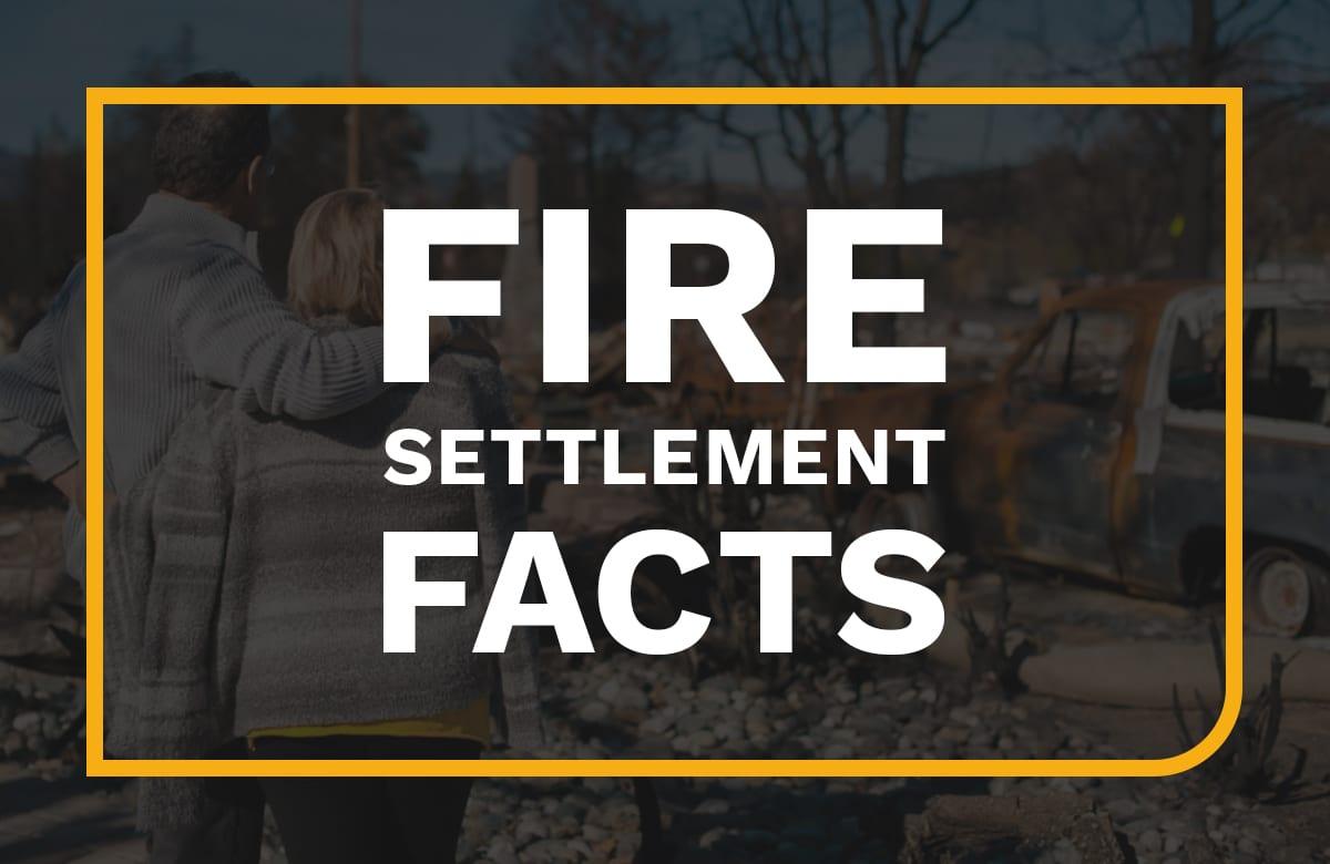 PG&E FIRE SETTLEMENT