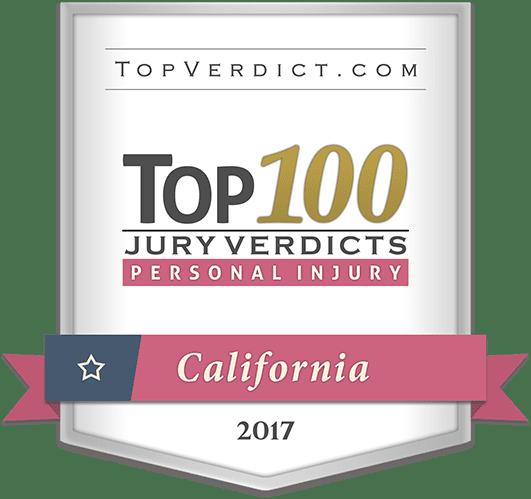 top 100 jury verdicts personal injury California